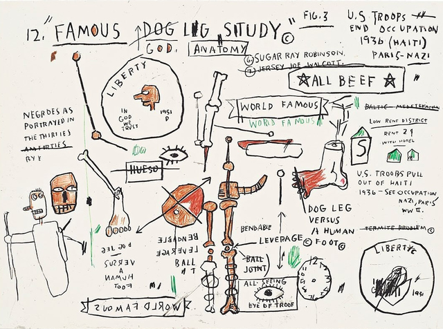 Jean-Michel Basquiat, 'Dog Leg Study', 1982-2019, Hang-Up Gallery