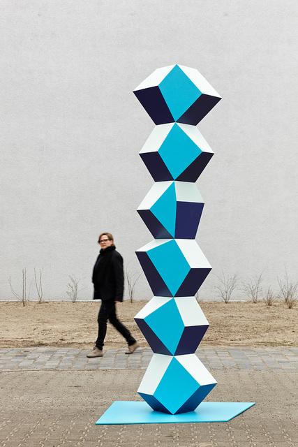 , 'Heavy Metal Stack of Six 3 Blues,' 2014, Simon Lee Gallery