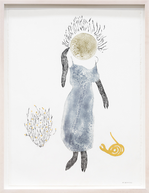 , 'Blue Bloom On Pinnacled Hair,' 2014, Rosamund Felsen Gallery