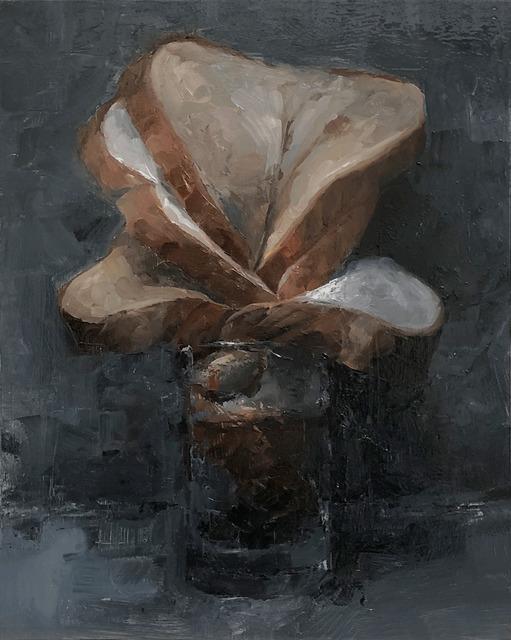 Tom Giesler, 'Floral 16: wheat white bread arrangement', 2020, Painting, Oil on panel, McVarish Gallery