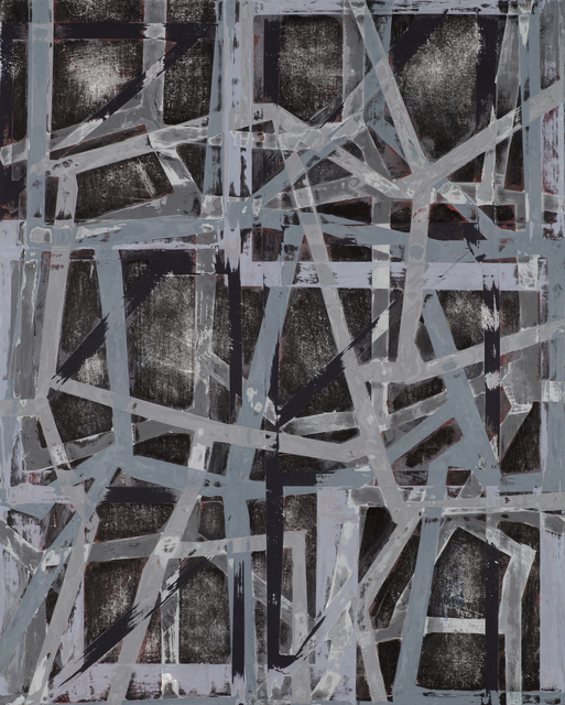 , 'Grinder Painting 19 (Grey Black),' 2017, Z Gallery Arts