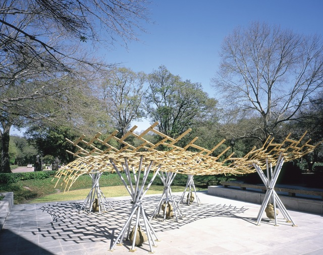 , 'Bamboo Roof,' 2002-2003, Rice University Art Gallery