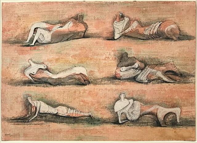 , 'Six Reclining Figures,' 1944, Osborne Samuel