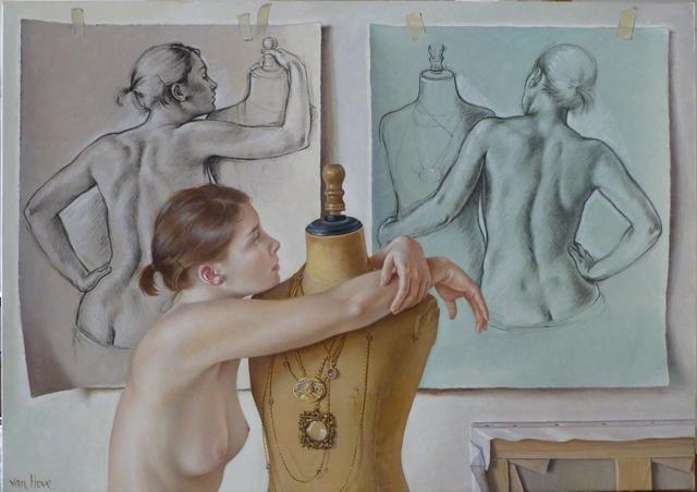 , 'Pause entre deux poses,' 2015, Galerie de Bellefeuille