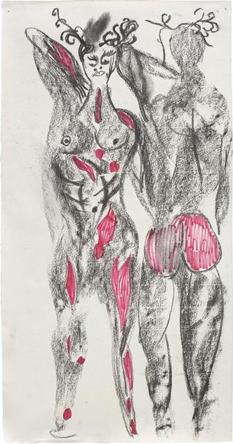 Chris Ofili, 'Actaeon Stag (Study for Diana & Actaeon)', 2012, Phillips