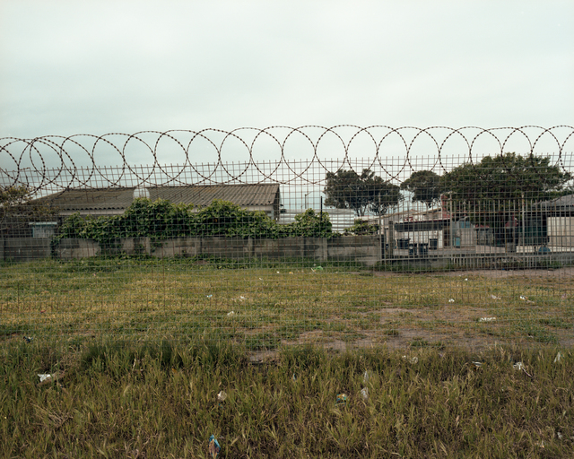 , 'Fence around the drummies main practice court. Delft, South Africa,' 2017, Red Hook Labs