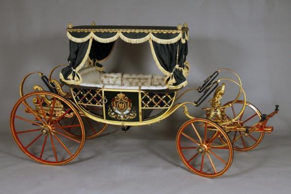 Georges Ehrler, 'Calèche d'apparat du Prince impérial (Ceremonial carriage of the Imperial Prince)', 1859, Musées et domaine nationaux du palais de Compiègne