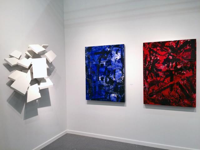 Jorge Enrique, 'Empire (Blue)', 2016, Painting, Mixed Media on Panel, Galerie Olivier Waltman   Waltman Ortega Fine Art