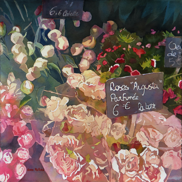 , 'Paris Flower Market,' 2018, Open Mind Art Space