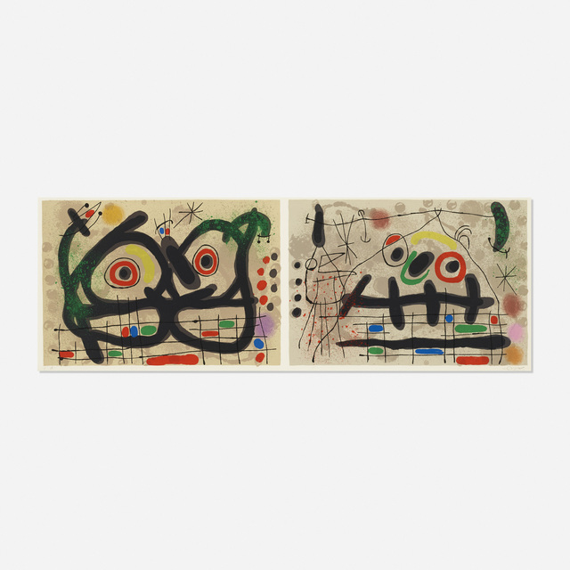 Joan Miró, 'two plates from Le Lezard aux Plumes D'or', 1967, Rago/Wright