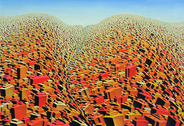 ", 'Life City ""Beyond the Hill"",' 2000, Art and More Gallery"