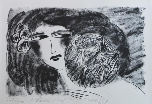 Walasse Ting 丁雄泉, 'Portrait de Femme', 1989, Art Works Paris Seoul Gallery