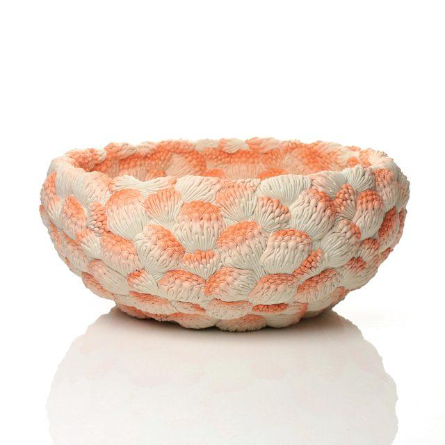 , 'A Large Orange Coral Bowl,' 2014, Adrian Sassoon