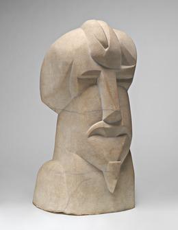 Henri Gaudier-Brzeska, 'Hieratic Head of Ezra Pound', 1914, Sculpture, Marble, National Gallery of Art, Washington, D.C.