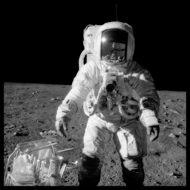 , '049 Alan Bean at Sharp Crater With the Handtool Carrier; Photographed by Charles Conrad, Apollo 12, November 14-24, 1969,' 1999, Danziger Gallery