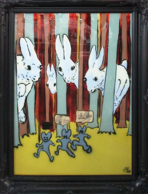 Pure Evil, 'Rabbits On Glass', 2012, Stowe Gallery