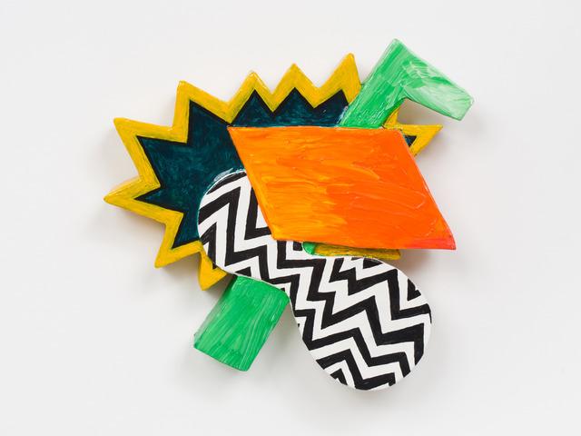 , 'Zulu Hammer (Green vertical element with black and white zig zag),' 2012, Fleisher/Ollman