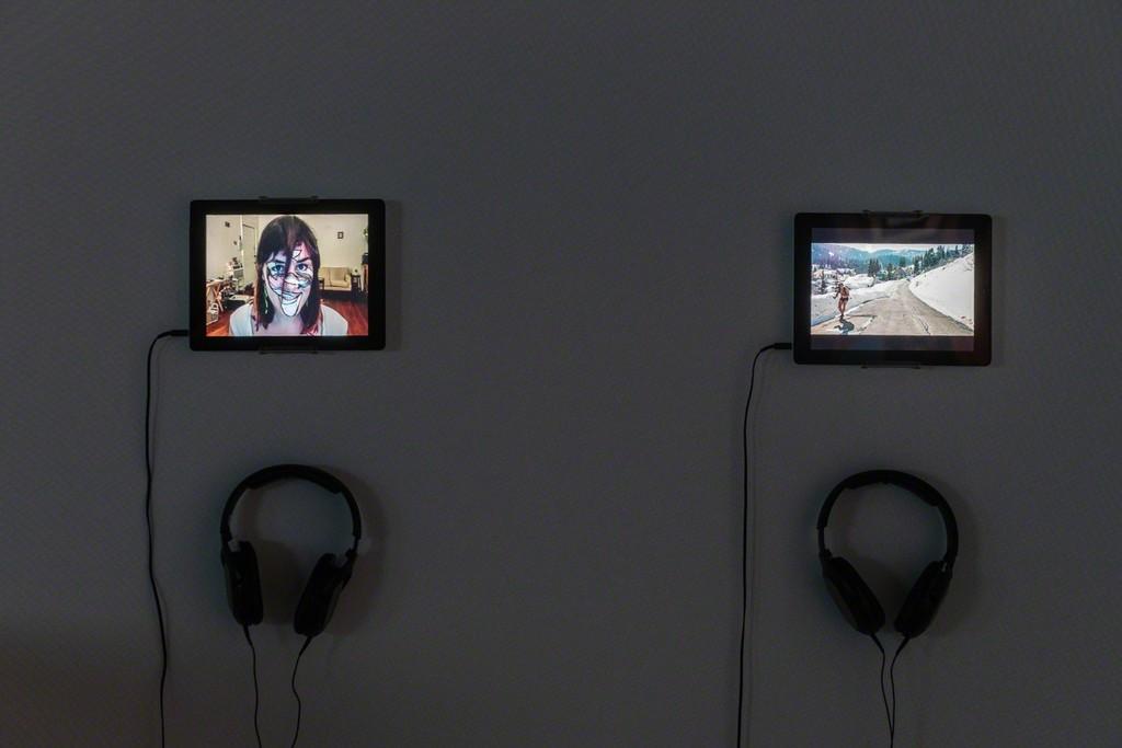 Installation view of Jillian Mayer 'Impressions' at Annka Kultys Gallery, London 2018. Photo: Annka Kultys Gallery (Damian Griffiths)