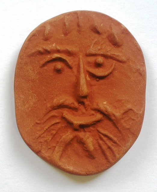 Pablo Picasso, 'Face', 1954, Sculpture, Red earthenware clay, oval medallion, Nicholas Gallery