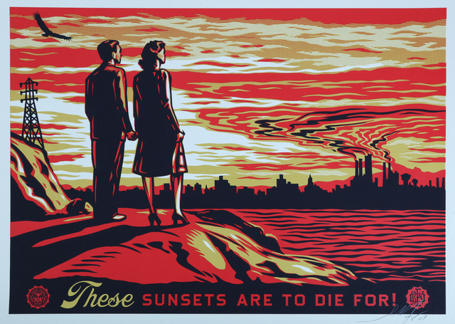 Shepard Fairey, 'These Sunsets Are To Die For', 2007, Chiswick Auctions