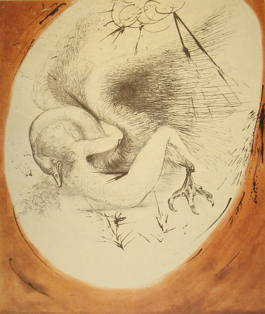 Salvador Dalí, 'Leda and the Swan', 1963, Print, Drypoint on Japon paper, DTR Modern Galleries