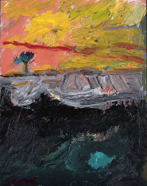 , 'A Tree with a Yellow Sky 1734,' 2017, Odon Wagner Contemporary