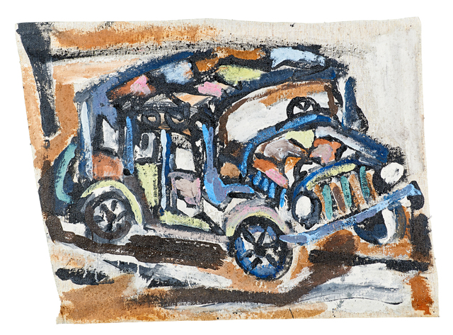 Smokey Tunis, 'Two untitled paintings (Cars)', Rago
