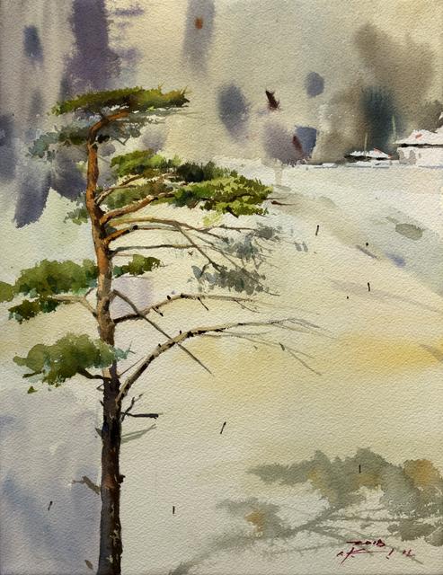 Seongmo Yang, 'Snow Pine tree', 2017, Kate Oh Gallery