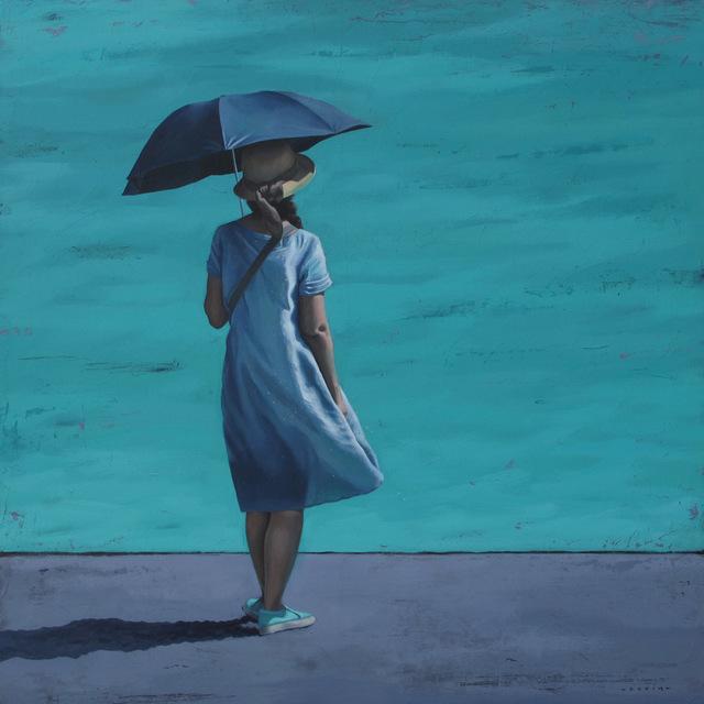 MARYLIN CAVIN, 'rivage, méditation', 2018, 3 cerises sur une étagère