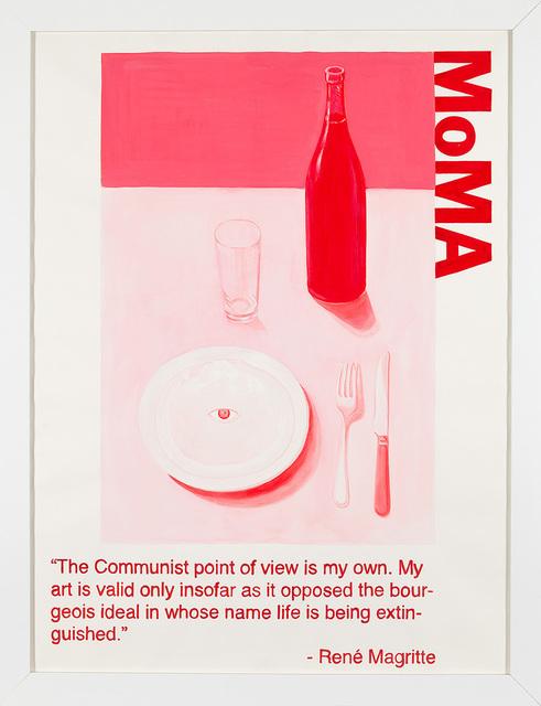 Yevgeniy Fiks, 'Communist Tour of MoMA (Rene Magritte)', 2010, Winkleman Gallery