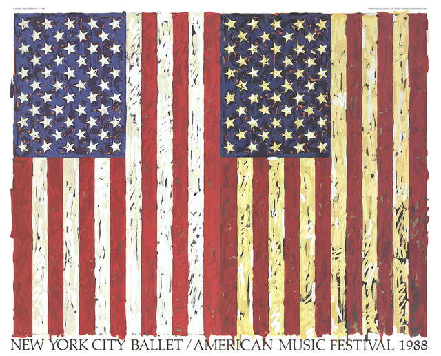 Jasper Johns, 'New York City Ballet / American Music Festival (1988)', 1988, Print, Offset Lithograph, ArtWise