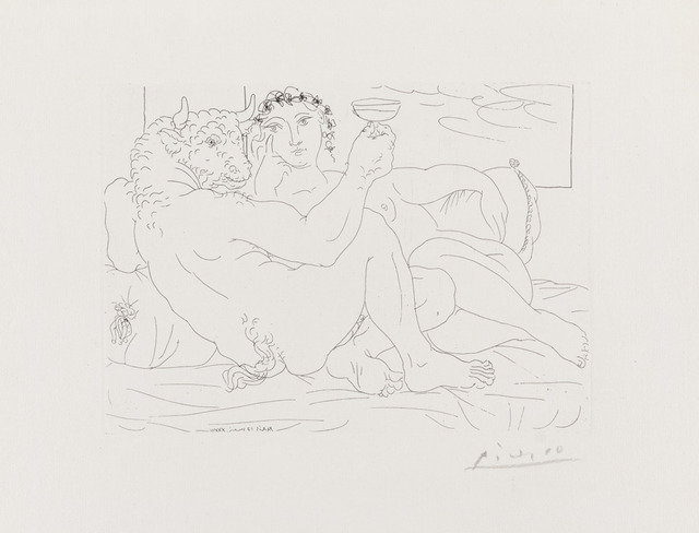 Pablo Picasso, 'Le Repose du Minoture: Champagne et Amante', May 17-1933, Galerie d'Orsay