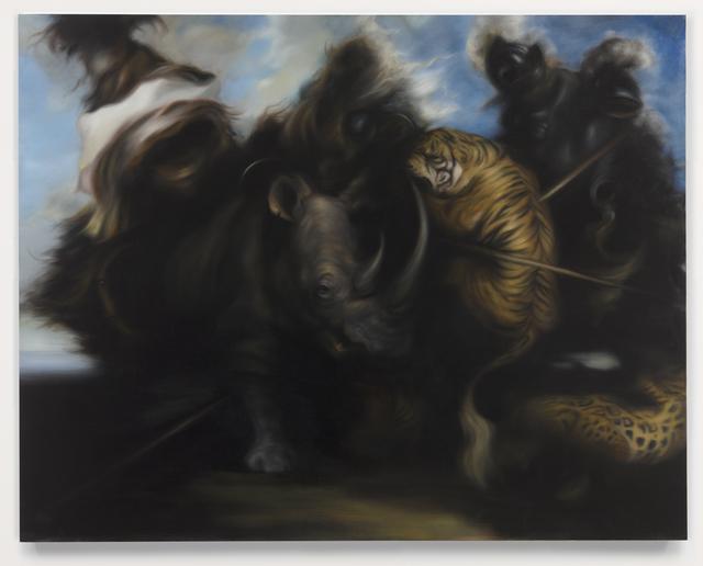 , 'Hunt 1,' 2014, Parafin