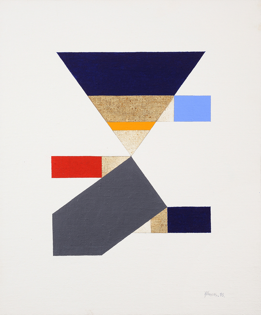 , 'Untitled (Study for Red Triangle Paintings),' 1985, Charles Nodrum Gallery