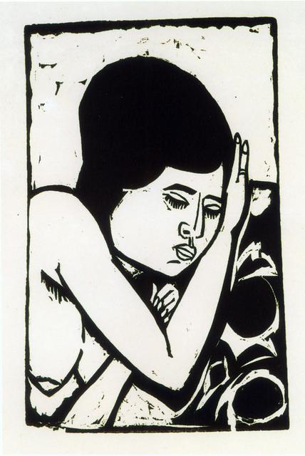Ernst Ludwig Kirchner, 'Brustbild eines liegenden Aktes (Dodo)', 1911, Henze & Ketterer