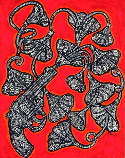 , 'Singing Revolver,' 2017, Bitfactory Gallery