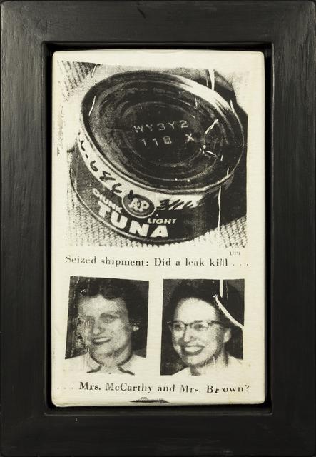 Andy Warhol, 'Tuna Disaster', 1985, Rudolf Budja Gallery