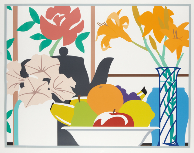 Tom Wesselmann, 'Still Life with Petunias, Lilies, and Fruit', 1988, Phillips