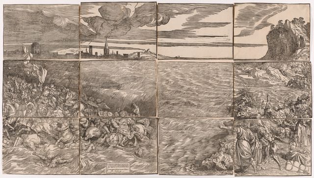 Titian, 'The Submersion of Pharaoh's Army in the Red Sea', 1514-15