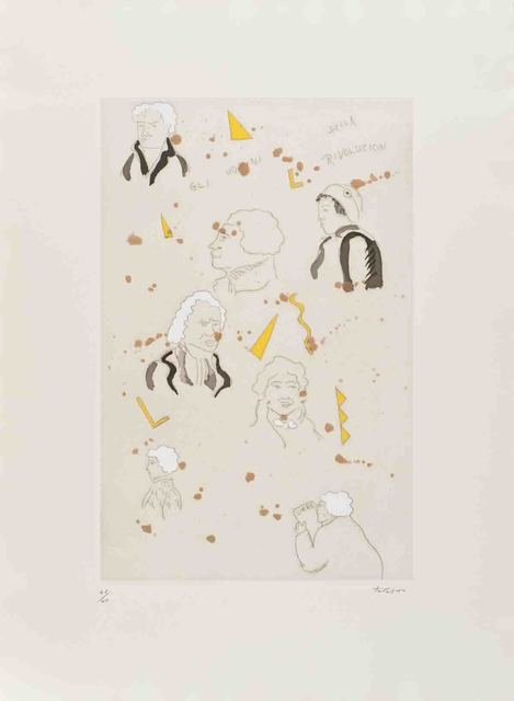 Ernesto Tatafiore, 'Gli Uomini della Rivoluzion', Drawing, Collage or other Work on Paper, Mixed Media, ArtWise
