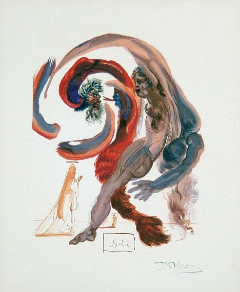 Salvador Dalí, 'Purgatory Canto 18: The Fourth Terrace from The Divine Comedy', 1960, Print, Woodblock on paper, New River Fine Art