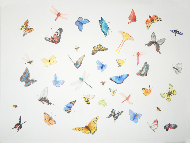 , '晴天蝶戏/ Butterflery game on sunny day,' 2013, Shanghai Gallery of Art