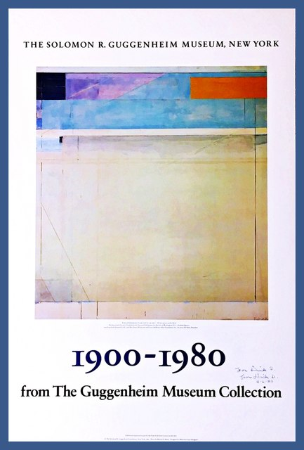 Richard Diebenkorn, '1900 - 1980 for the Guggenheim Museum Collection (Hand Signed)', 1980, Alpha 137 Gallery
