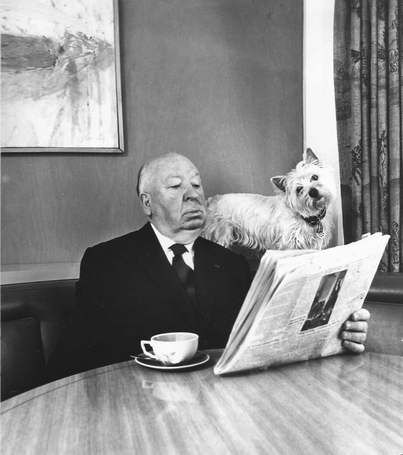 , 'Alfred Hitchcock and his Sealyham Terrier,' 1974, °CLAIR Galerie