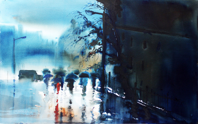 , 'Rain in London,' 2001, Aicon Gallery