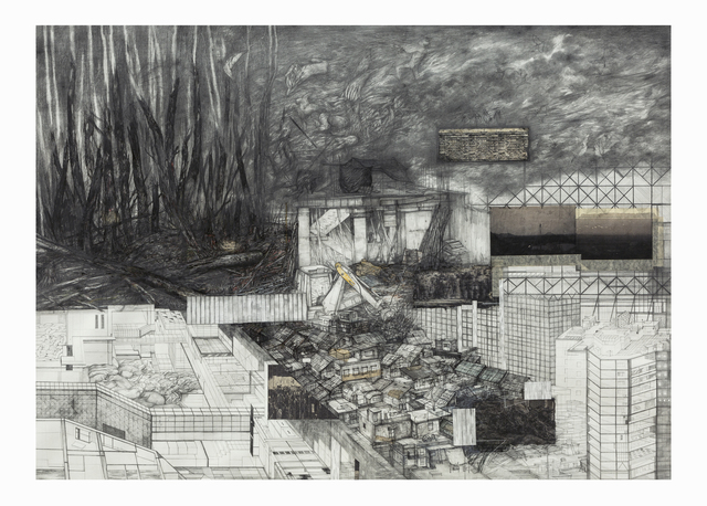 Swagata Bhattacharyya, 'Untitled', 2020, Drawing, Collage or other Work on Paper, Graphite, Pen, Pastel on Paper, Aicon Gallery