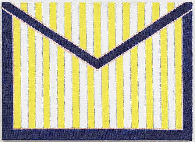 ", '""Small Envelope with White and Yellow Stripes"",' 2013, Serving The People"