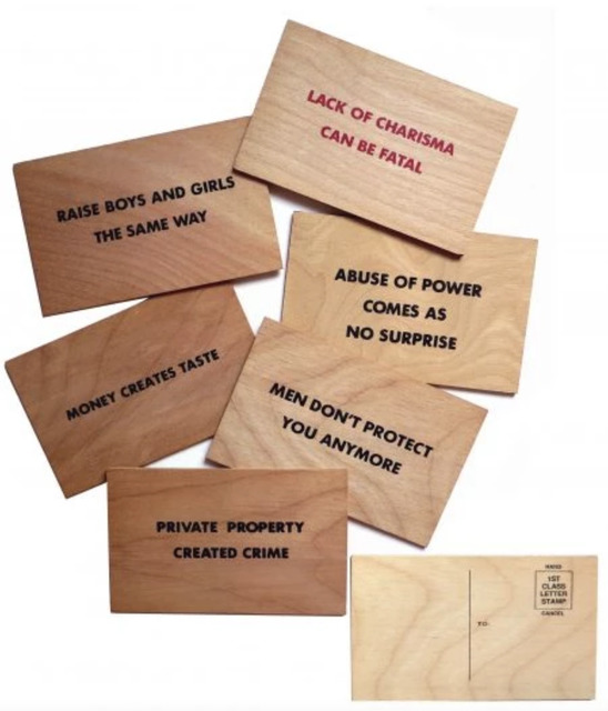 Jenny Holzer, 'Truisms (Wooden Postcard)', 1994, Artsnap