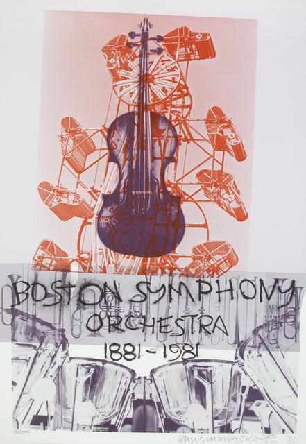 Robert Rauschenberg, 'Boston Symphony Orchestra Poster', 1981, Julien's Auctions