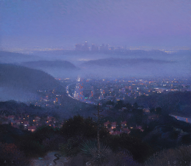 , 'South from Glendale (Night Fog),' 2017, Craig Krull Gallery